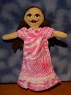 Nightgown in pink zebra flannel.